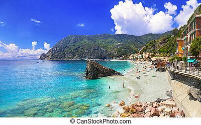 yegua, playas, cinque terre, monterosso, liguria, italia, al, parque nacional, grande