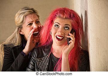 Yelling at Teenage Girl on Phone