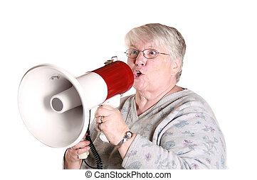 yelling grandma