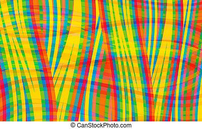 yellow;, 抽象的, ライン, blue;, ベクトル, 緑の赤