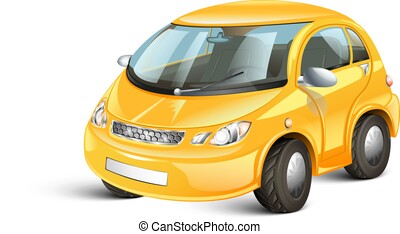 3d cartoon car.