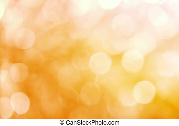 yellow abstract background with blurred defocus bokeh light