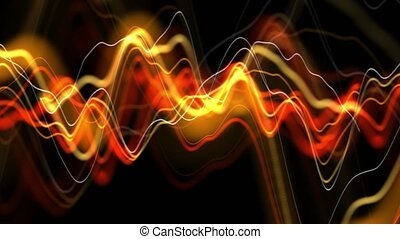 Yellow abstract background with distortion damages