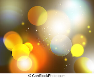 Yellow abstract background with glitters.