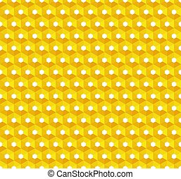 yellow abstract background with hexagons structure