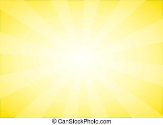 Yellow abstract background with Sun Light Burst
