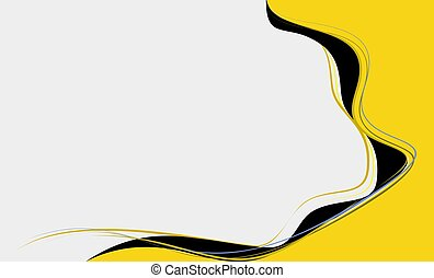 Yellow Abstract on white background in vector illustration