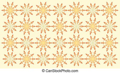 Yellow abstract shapes pattern