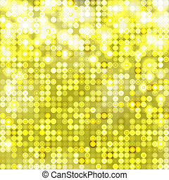 Yellow abstract sparkling background with circles