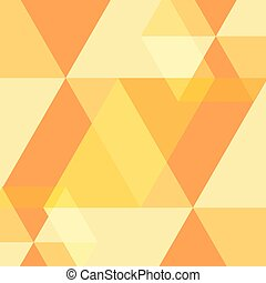 Yellow Abstract Square Background. Vector Illustration
