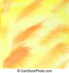 Yellow abstract watercolor background