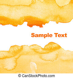 Yellow abstract watercolor background with space for your...