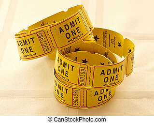 Yellow Admit One Tickets
