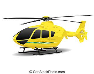 Yellow Air Ambulance Illustration