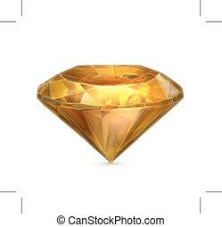 Yellow amber vector icon