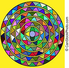 yellow and abstract circle - yellow background and abstract...