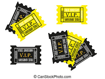 Yellow and Balck admission tickets