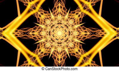Yellow and Black Cosmic Web VJ Loop