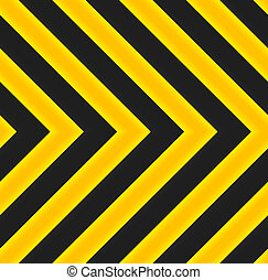 Yellow and black marking seamless pattern. Directional...