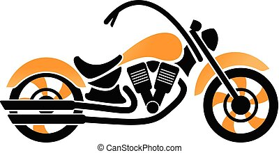 Yellow and black motorcycle graphic template vector