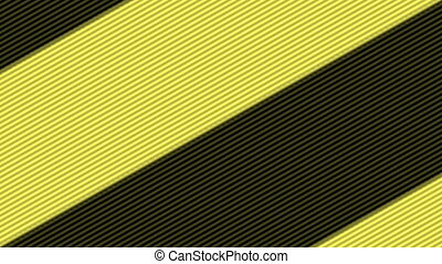 Yellow and black stripes on infinite zoom