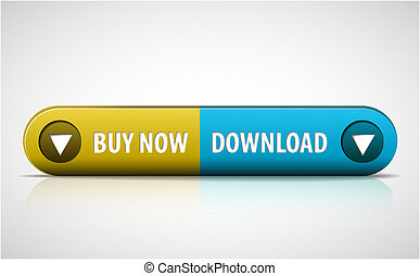Yellow and blue Buy now / Download button