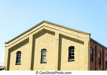 Yellow and Brick Building