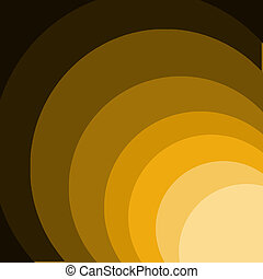 Yellow And Brown Circles Over Dark Background