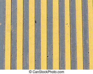 yellow and gray concrete strips