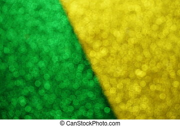 Yellow and Green Bokeh light abstract Background