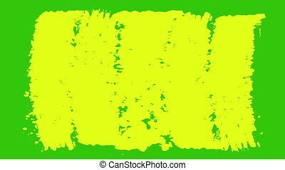 """""""Yellow and Green Paint Brush Strokes"""" - """"A cheery 3d..."""