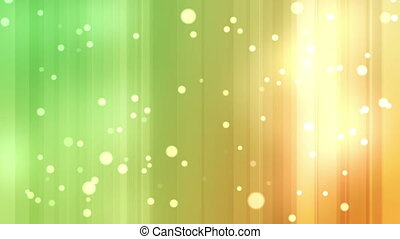 Yellow and green streams of light with shining stars