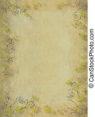 Yellow and grey faded blossom