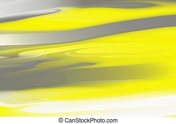 yellow and grey liquid painting for abstract background
