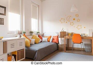 Yellow and orange accessories