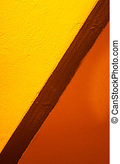Yellow and orange colors of lanes