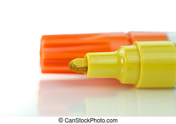 Yellow and orange marker