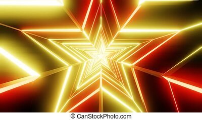 Yellow and orange star abstract