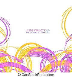 Yellow and pink abstract ribbons background