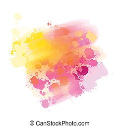 yellow and pink splatter watercolor background