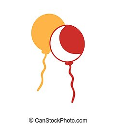 yellow and red balloons