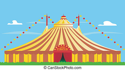 big top - yellow and red big top.