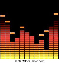 Yellow and red equalizer