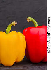 Yellow and red paprika bell pepper.