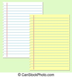 Yellow and white lined paper vector