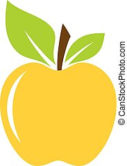 Yellow apple vector illustration