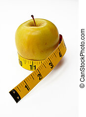 Yellow Apple with tape measure