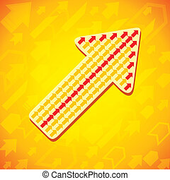 Yellow arrow background