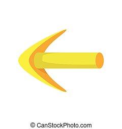 Yellow arrow cartoon icon
