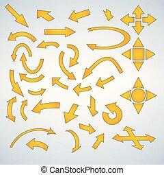 Yellow Arrow Icon Set